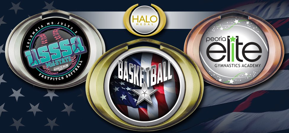 "3"" HALO INSERT MEDALS"